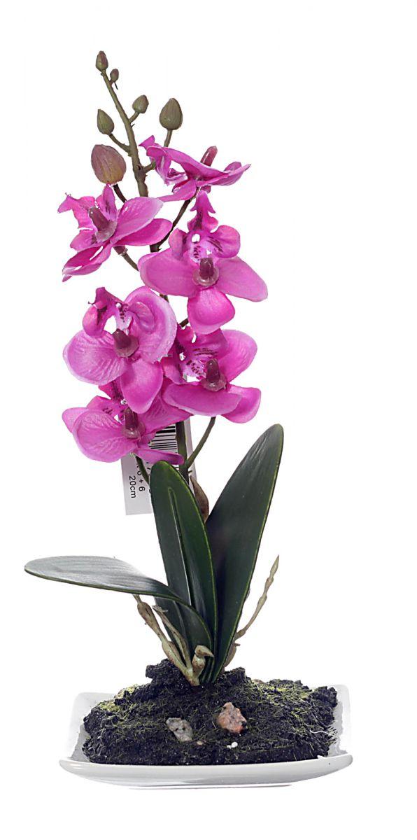 k nstliche orchidee lila 20cm 1 12. Black Bedroom Furniture Sets. Home Design Ideas